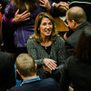 Lt. Gov. Karyn Polito enters the house chamber as the Massachusetts House of Representatives gathered for the 190th general court and swearing-in ceremony on Wednesday morning at the State House in Boston. SENTINEL & ENTERPRISE / Ashley Green
