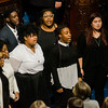 The UMASS Lowell Gospel Choir sings the National Anthem as Massachusetts House of Representatives gathered for the 190th general court and swearing-in ceremony on Wednesday morning at the State House in Boston. SENTINEL & ENTERPRISE / Ashley Green