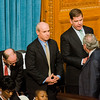 Boston Mayor Marty Walsh greets other legislators as the Massachusetts House of Representatives gathered for the 190th general court and swearing-in ceremony on Wednesday morning at the State House in Boston. SENTINEL & ENTERPRISE / Ashley Green