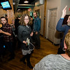 Natalie Higgins, Democratic candidate and winner of the Leominster State Representative race, arrives at 435 Bar and Grille in Leominster after the polls close. SENTINEL & ENTERPRISE / Ashley Green