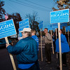 Supporters campaign for Natalie Higgins, Democratic candidate for State Representative in Leominster during Election Day on Tuesday. SENTINEL & ENTERPRISE / Ashley Green