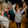 Supporters celebrate as they await the arrival of Natalie Higgins, Democratic candidate and winner of the Leominster State Representative race on Tuesday evening at 435 Bar and Grille in Leominster. SENTINEL & ENTERPRISE / Ashley Green