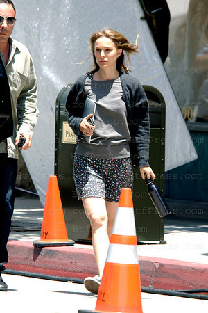 Natalie Portman during the set of Untitled Ivan Reitman Project in Pasadena,California.