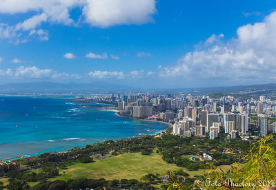 Hawaii, on top of Diamond head