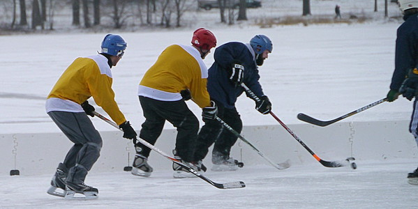 Nate's Pond Hockey - January 2012