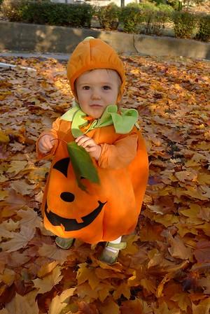 Silvia in Pumpkin Costume Oct 31 '12