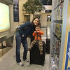 playing with Mommy at the airport<br /> Saturday Feb. 19th