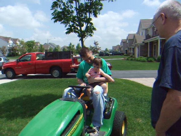 My 1st John Deere ride on my 1st Birthday!
