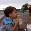 Out with Aunt Robin<br /> 6/25/11<br /> ice cream and a milk shake!!