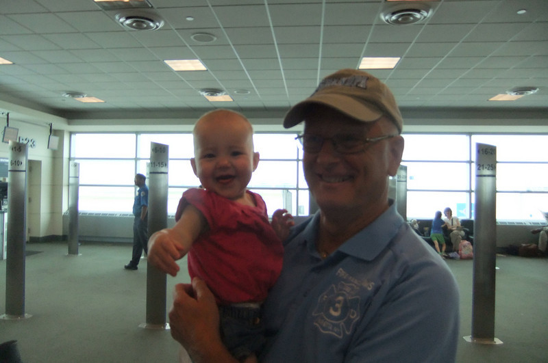 We met this little darling on our flight to Chicago.<br /> Her Daddy is a professional baseball player.