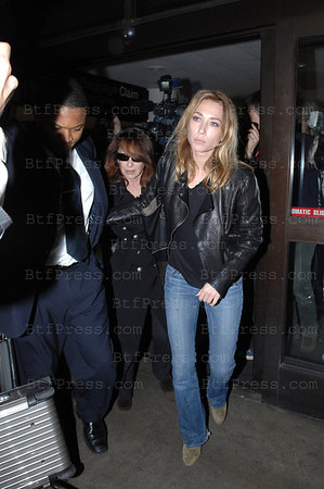 Nathale Baye and Laura Smet arriving at LAX to visit Johnny Hallyday at the Cedars Sinai.