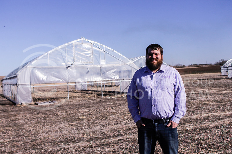 Nathan Hein, a graduate student in agronomy, received an award from the North American Plant Phenotyping Network for his research. A nontraditional student with a wife and two kids, Hein didn't start his career with agronomy in mind, but after working at a production farm that lacked flexibility in its practices, he changed his path and came to K-State initially as an assistant research scientist, but ended up enrolling. (Kaylie McLaughlin | Collegian Media Group)