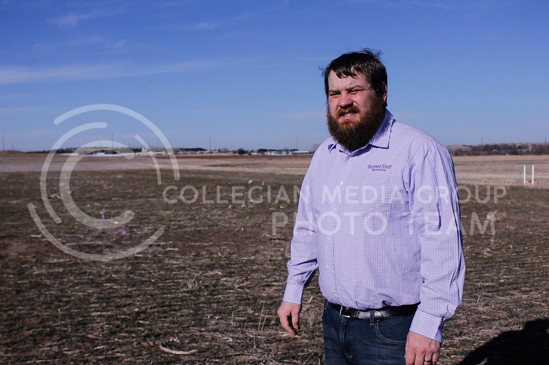 Nathan Hein, a graduate student in agronomy, received an award from the North American Plant Phenotyping Network for his research. His current project at the agronomy fields is working to enhance the efficiency of the use of nitrogen on crops. He hopes his research will help farmers save money and resources.(Kaylie McLaughlin | Collegian Media Group)