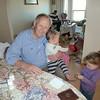 Great granddad with Maddox and Dakota