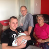 Wounded great grand dad Glen ( Pop) joins the picture now