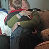 Nathan hugs Casey