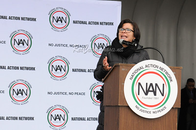 WASHINGTON D.C. - JANUARY 14: National Action Network's 'We Shall Not Be Moved' march and rally at the National Mall on Saturday, January 14, 2017, in Washington, D.C.. (Photo by Aaron J / NAN / RedCarpetImages.net)
