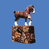 Clydesdale, 3'H  #7013<br /> Stone Look Base  #6089