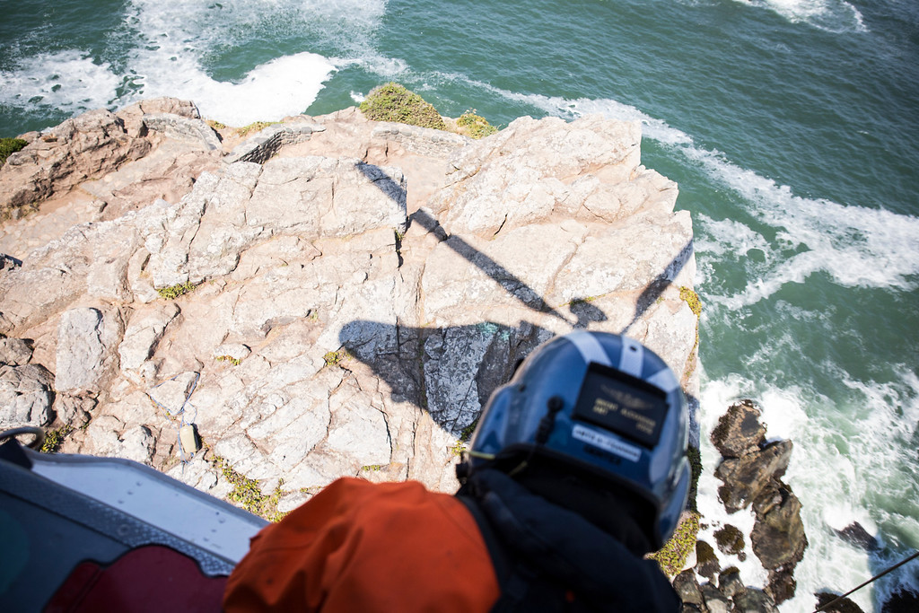 """. The Humboldt Bay Sector Coast Guard watches over 250 miles of North Coast rugged coastline. The City of Eureka has been a \""""Coast Guard City\"""" for the past 17 years.  (Sam Armanino - Times-Standard)"""