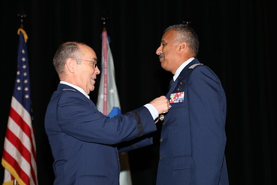 Lt Col Rajesh Kothari receiving the Distinguished Service Award.  He distinguished himself as chair of the CAP Investment Committee.  Photo by Susan Schneider, CAPNHQ
