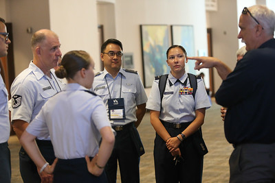 Civil Air Patrol members from across the United States attend the 2018 CAP National Conference in Anaheim, CA on Aug. 23, 2018. Civil Air Patrol is the auxiliary of the U.S Air Force and is a proud partner in the Total Force with more than 59,000 volunteer Airmen.  (Civil Air Patrol photo by Lt. Col. Robert Bowden)