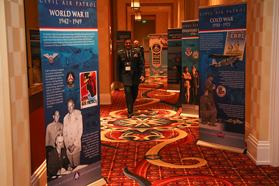 Historical Civil Air Patrol artifacts on display during the 2019 CAP National Conference, in Baltimore, MD on Aug. 9, 2019. (Civil Air Patrol, U.S Air Force Auxiliary photo by Lt. Col. Robert Bowden)