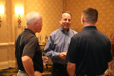 Civil Air Patrol members enjoy food and refreshments during the opening reception sponsored by Textron Aviation at the 2019 CAP National Conference, in Baltimore, MD on Aug. 8, 2019.  CAP operates a fleet of 560 aircraft, performs about 90 percent of continental U.S. inland search and rescue missions as tasked by the Air Force Rescue Coordination Center and is credited by the AFRCC with saving  105 lives in FY 2018. (Civil Air Patrol, U.S Air Force Auxiliary photo by Lt. Col. Robert Bowden)