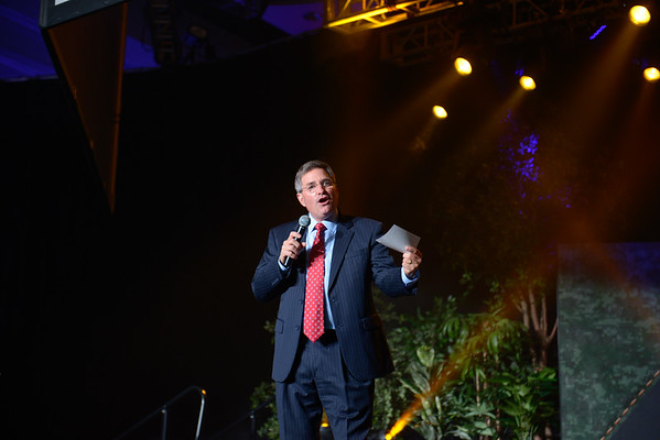 Barry Clarkson on stage at NatCon15