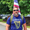 This veteran hiked from Lynchburg to attend the ceremony.