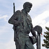 Close-up of The Bedford Boys statue