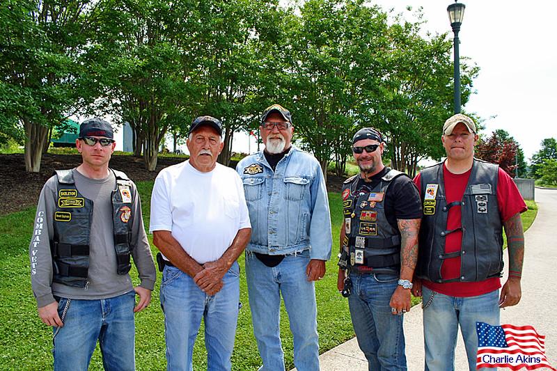 I saw these veterans as I was leaving the memorial.