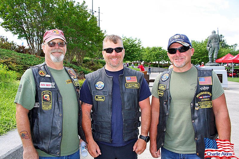 I saw these veterans at the memorial.