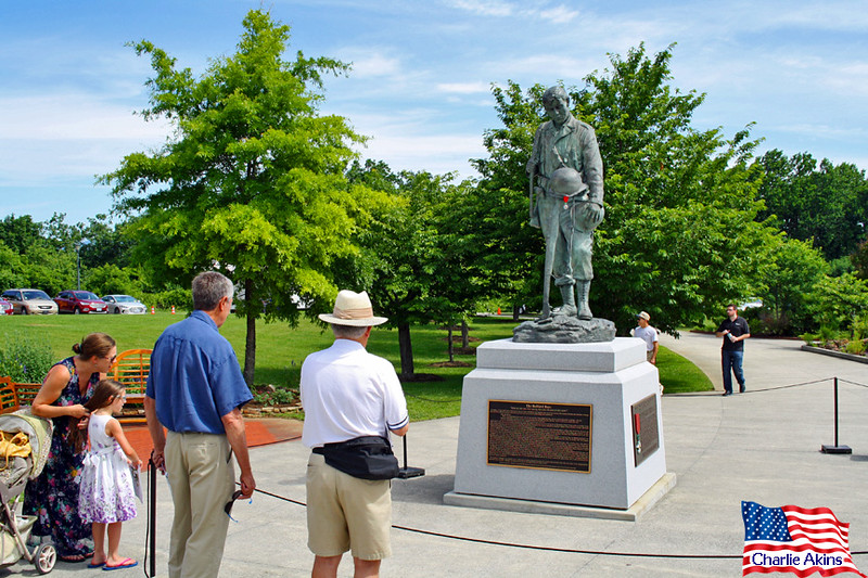 Approaching The Bedford Boys statue