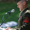 National Day of Prayer was held at Barrett Park on Thursday, May 4, 2017.Marine CPL Randy Kay addresses the crowd at the event. SENTINEL & ENTERPRISE/JOHN LOVE
