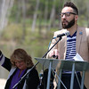 National Day of Prayer was held at Barrett Park on Thursday, May 4, 2017. Pastor Emy Vazquez addresses the crowd at the event. SENTINEL & ENTERPRISE/JOHN LOVE