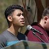 National Day of Prayer was held at Barrett Park on Thursday, May 4, 2017. Joshua Costa from Leominster and Rick Plourde, in red, from Lunenburg perform a song at the event. SENTINEL & ENTERPRISE/JOHN LOVE