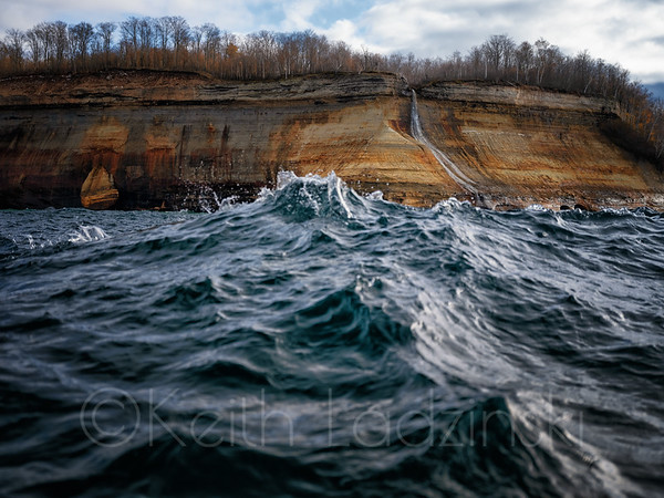 Pictured Rocks National Sea Shore, Lake Superior Upper Penninsula Michigan  t