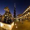 Dubai Burj Khalif and Botero horse