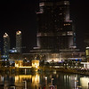 Dubai Burj Khalif at night