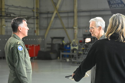 Maj Ben Cole, CAP, SCWG Chief of Staff, explains the missions of Civil Air Patrol and its involvement in the air intercept mission preceding the Super Bowl LIII to CBS National Correspondent David Martin.