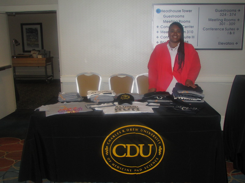 CDU representative Brittney Miller was all smiles as she staffed the CDU merchandise booth at NMA.
