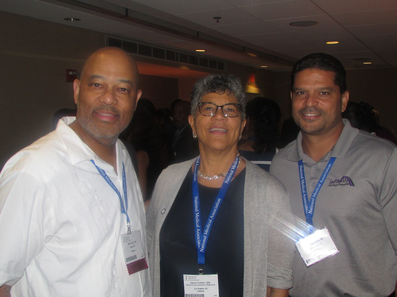 Dr. Deborah Prothrow-Stith and guests at the CDU alumni reception during NMA