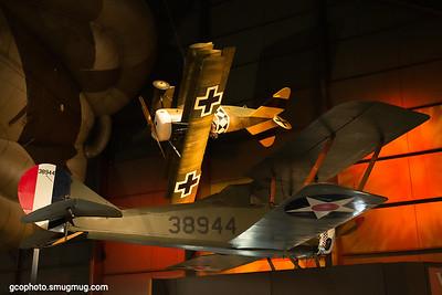 Fokker DR. I (top),  Thompson-Morse S4C Scout (bottom)