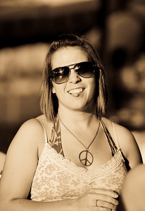 The All Mighty Kara and her fashionable tongue!!!  If you look close I caught the sun setting in her eye glasses:)