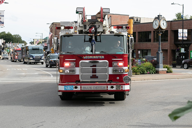 The parade to open up Leominster's National Night Out on Tuesday, August 3, 2021 held on and around Monument Square. SENTINEL & ENTERPRISE/JOHN LOVE