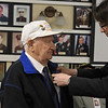 Arnaud Mentre Consul General of France pins medal on Staff Sergeant Rocco DiGloria<br /> SENTINEL&ENTERPRISE/Scott LaPrade