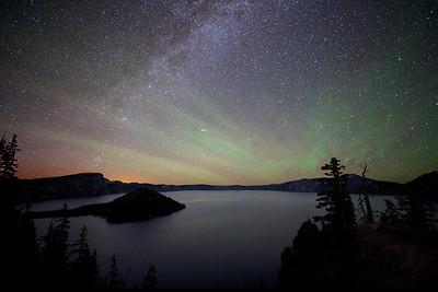 Crater Lake Sky Glow