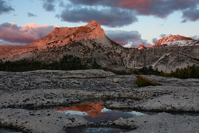 Cathedral Peak Alpenglow Reflection