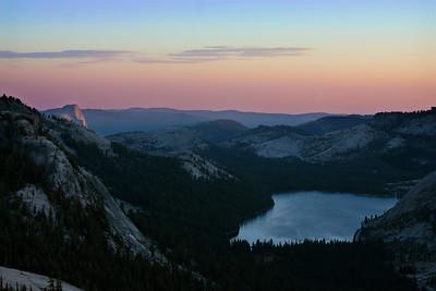 Tenaya Lake/Half Dome Sunset