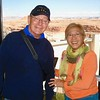 Kitty with a tourist from Alaska inside the tower at the Glen Canyon Dam, Utah